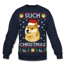 Load image into Gallery viewer, Such Christmas Ugly Sweatshirt - navy
