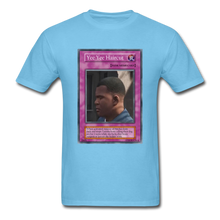 Load image into Gallery viewer, Yee Yee Ass Haircut Trap Card T-Shirt - aquatic blue