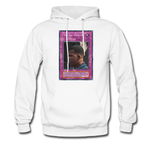 Yee Yee Ass Haircut Trap Card Hoodie - white