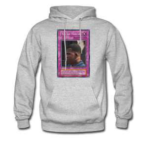 Yee Yee Ass Haircut Trap Card Hoodie - heather gray