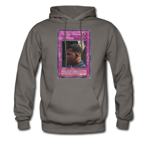 Yee Yee Ass Haircut Trap Card Hoodie - asphalt gray