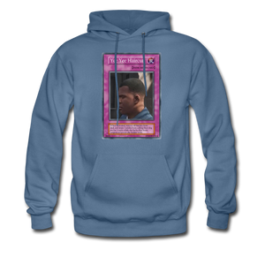 Yee Yee Ass Haircut Trap Card Hoodie - denim blue