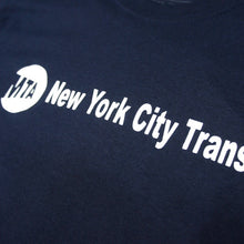"Load image into Gallery viewer, MTA New York City Transit Official Tee ""Navy"""