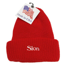 "Load image into Gallery viewer, 【50%OFF】SLON Logo Embroidered Beanie ""Red"""