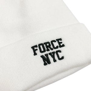 "【50%OFF】NIKE FORCE NYC Knit Beanie ""White"""