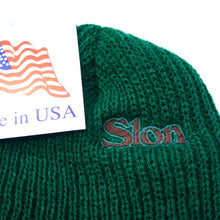 "Load image into Gallery viewer, SLON Logo Embroidered Beanie ""Beef & Broccoli"""