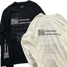 "Load image into Gallery viewer, NIKE NYC HOUSE OF INNOVATION L/S Tee ""Black"""
