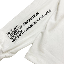 "Load image into Gallery viewer, NIKE NYC HOUSE OF INNOVATION L/S Tee ""White"""