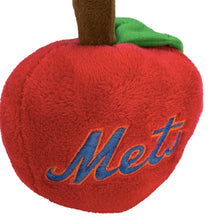 "Load image into Gallery viewer, MLB Officially Licensed Plush ""Mets Apple"""