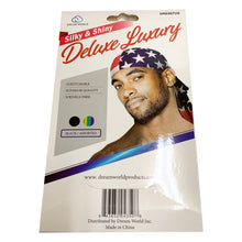 "Load image into Gallery viewer, Silky & Shiny Deluxe Luxury Du-Rag ""Pattern"""