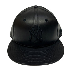 "New York Yankees New Era Leather Fitted Cap ""Black"""