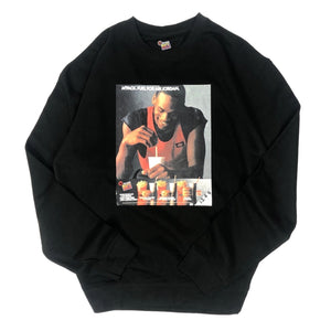 "Mr. Throwback NYC Crewneck Sweatshirt - MJ Micky Ds Design ""Black"""
