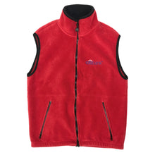 "Load image into Gallery viewer, citi bank Vintage Fleece Vest Jacket ""Red"""