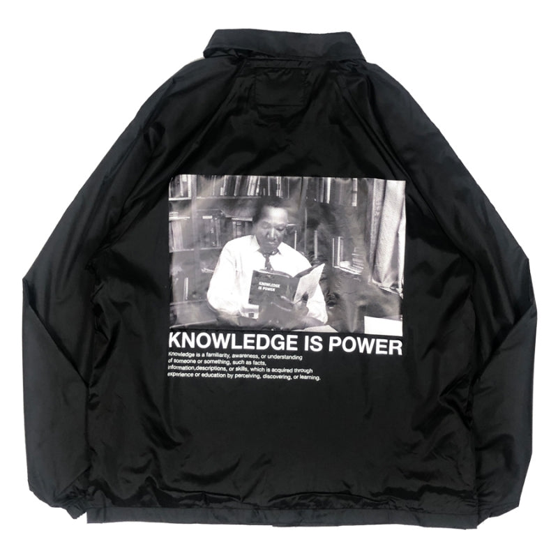 【20%OFF】BTNNY KNOWLEDGE IS POWER Coach's Jacket