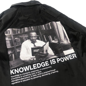 "【20%OFF】BTNNY KNOWLEDGE IS POWER Coach's Jacket ""Black"""