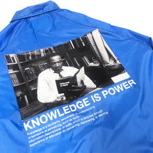 "Load image into Gallery viewer, 【20%OFF】BTNNY KNOWLEDGE IS POWER Coach's Jacket ""Blue"""