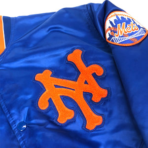 New York Mets Vintage Satin Stadium Jacket by Starter