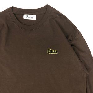 "SLON Throwback L/S Tee 3D Embroidered Logo ""Dark Chocolate"""