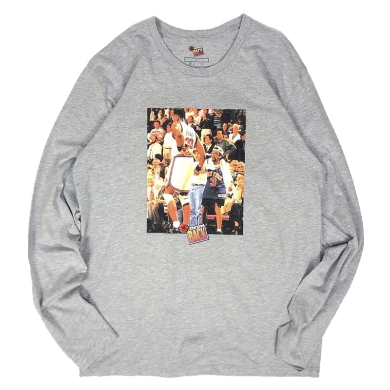 Mr. Throwback NYC Long Sleeve Tee - Ewing Spike Courtside Design