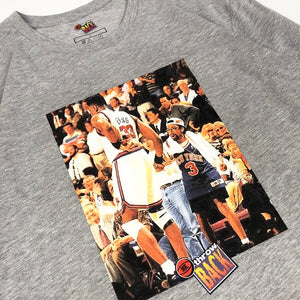 "Mr. Throwback NYC Long Sleeve Tee - Ewing Spike Courtside Design ""Grey"""