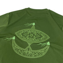 "Load image into Gallery viewer, rajabrooke asia WAU LOGO DRY TEE ""OLIVE"""