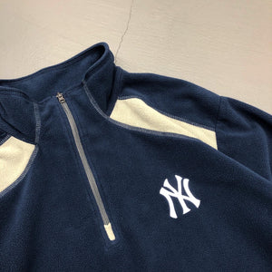 New York Yankees Light Weight Quarter Zip Fleece Shirt