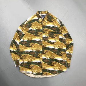 GAP Vintage All Over Printed L/S Shirt