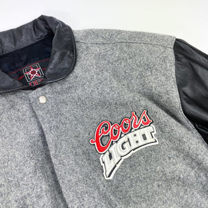 Coors LIGHT Premium Beer x JH Design Wool/Leather Varsity Jacket