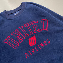 Load image into Gallery viewer, United Airlines Employees Pullover Fleece Shirt