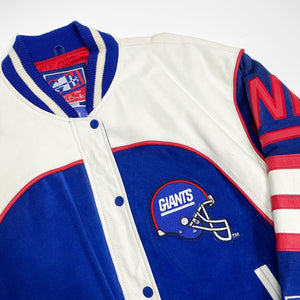 New York Giants DeadStock G-III and Carl Banks Leather/Suede Varsity Jacket