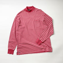 Load image into Gallery viewer, Polo by Ralph Lauren Vintage Striped Mock Neck L/S Tee