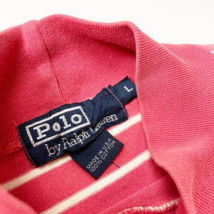 Polo by Ralph Lauren Vintage Striped Mock Neck L/S Tee