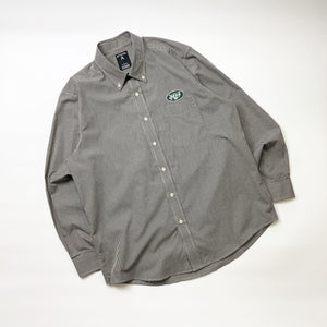 New York Jets Gingham Check BD Shirt