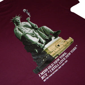 "BTNNY I Miss Old New York S/S Tee ""Maroon"""