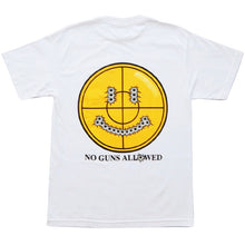 "Load image into Gallery viewer, BTNNY NO GUNS ALLOWED S/S Pocket Tee ""White"""