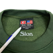 "Load image into Gallery viewer, SLON THE BRONX Crewneck Sweatshirt ""Green"""