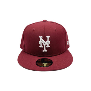 "New York Mets New Era 59FIFTY Fitted ""Burgundy"""