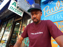 "Load image into Gallery viewer, BTNNY I Miss Old New York S/S Tee ""Maroon"""
