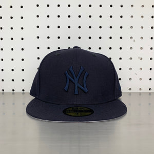 "New York Yankees New Era 59FIFTY Fitted Cap ""All Navy"""