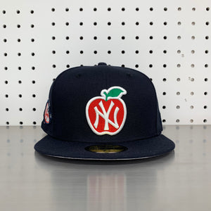 "New York Yankees New Era 59FIFTY Fitted Cap ""Apple- Navy"""
