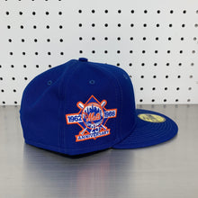 "Load image into Gallery viewer, New York Mets New Era 59FIFTY Fitted Cap ""25th Anniversary - Apple Blue"""