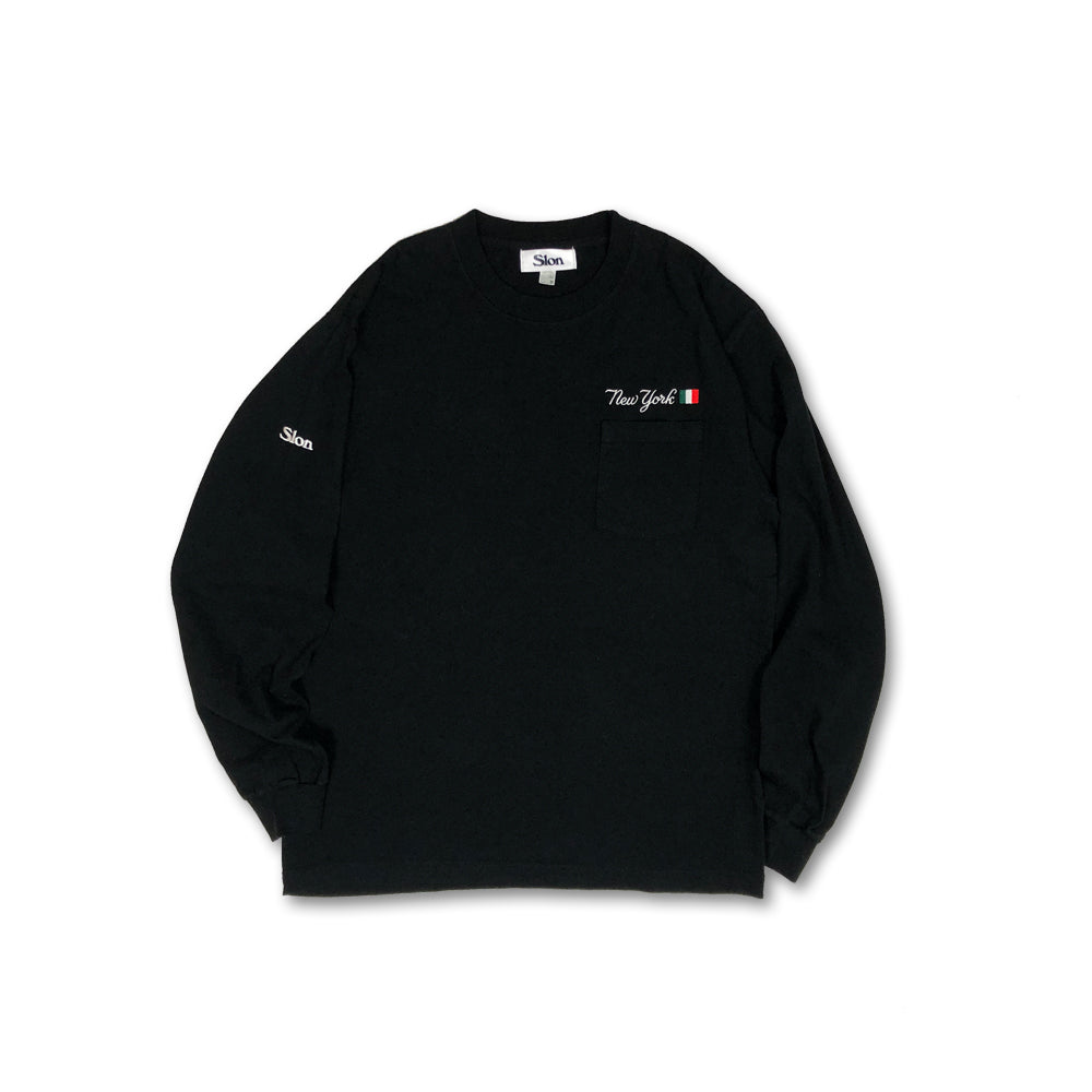 SLON New York Italian L/S Pocket Tee