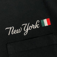 "Load image into Gallery viewer, SLON New York Italian L/S Pocket Tee ""Black"""