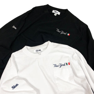 "SLON New York Italian L/S Pocket Tee ""Black"""