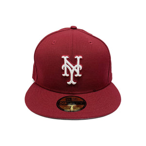 "New York Mets 59FIFTY Fitted Cap ""Burgundy"""