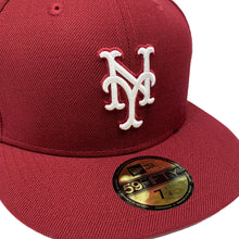 "Load image into Gallery viewer, New York Mets 59FIFTY Fitted Cap ""Burgundy"""