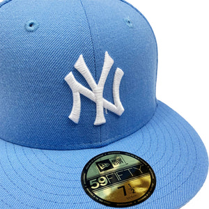 "New York Yankees New Era 59FIFTY Fitted Cap ""Carolina Blue"""