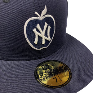 "New York Yankees New Era 59FIFTY Fitted Cap ""Apple-Navy"""