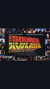 THE SOURCE  HIPHOP MUSIC AWARDS 1995 S/S Tee by Fraser Croll