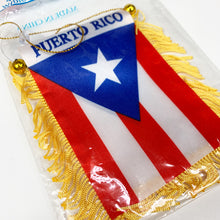Load image into Gallery viewer, PUERTO RICO Flag Mini Banner